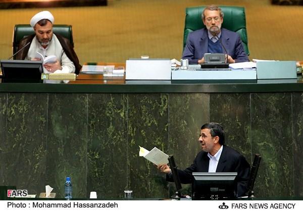 صحبت های جنجالی علی لاریجانی در پاسخ به احمدی نژاد + فایل صوتی