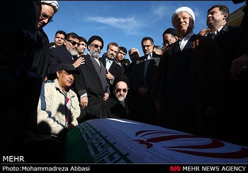 دو رئیس جمهور بر سر قبر معاون اولشان + عکس