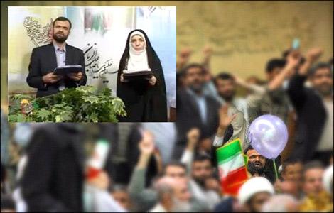 علی اصغر سیجانی در جمع اخلالگران سخنرانی لاریجانی + عکس