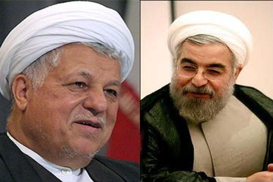 دیدار انتخاباتی حسن روحانی با هاشمی رفسنجانی