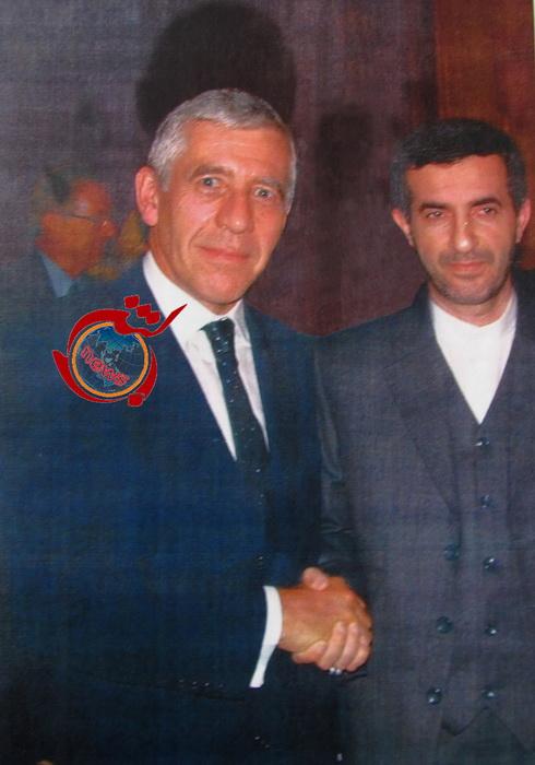 اسفندیار رحیم مشایی در کنار جک استراو + عکس