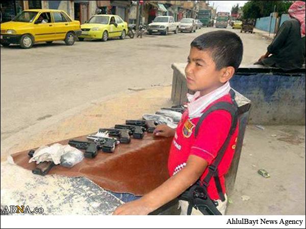 عکسی تاُسف برانگیز از کودک سوری