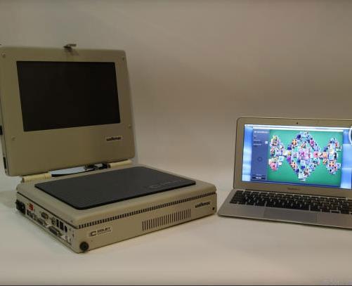 تصاویری از اولین لپ تاپ ساخته شده