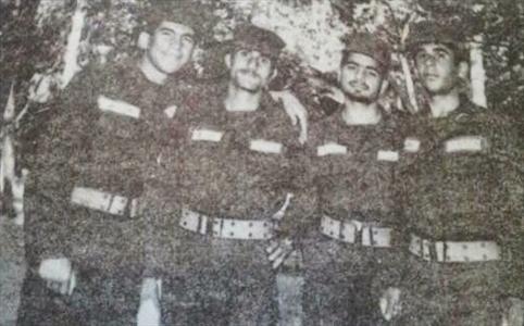 حسن روحانی در لباس سربازی/عکس