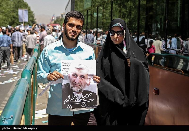 دختر و پسر حامی محمدرضا عارف و سعید جلیلی/عکس