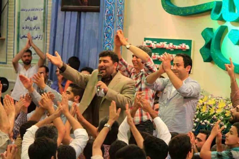 بازیگران خنده بازار در هیات سعید حدادیان/عکس