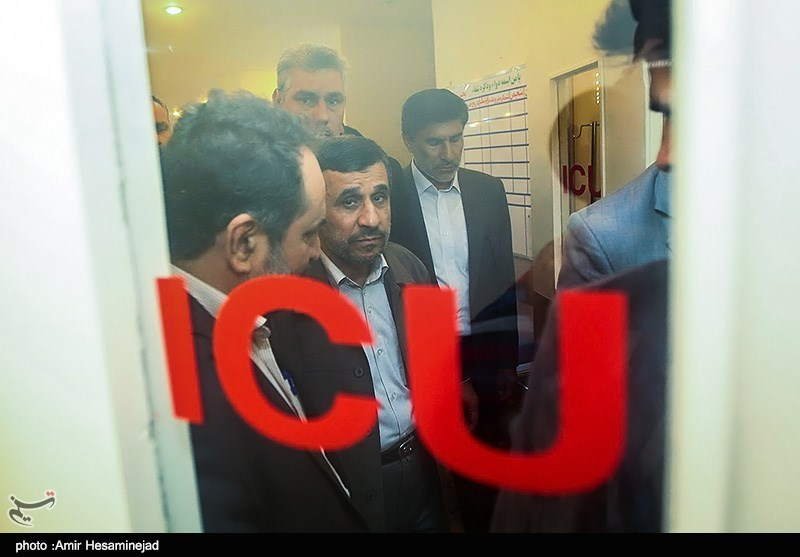 احمدی نژاد در ICU + عکس
