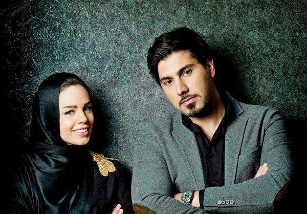 احسان خواجه امیری در کنار همسرش/عکس