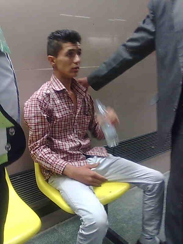 حادثه عجیب در متروی تهران + عکس