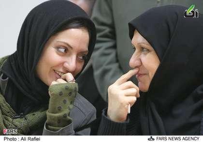 عکس/مهناز افشار در کنار مادر محجبه اش