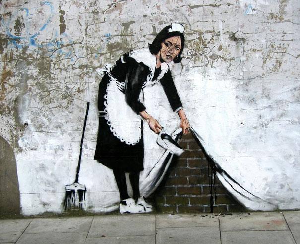 عکس/نقاشی خیابانی جالب روی یک دیوار
