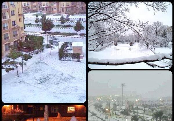 پس از 112 سال در مصر برف بارید+تصاویر