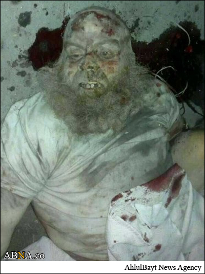 عکس/چهره وحشتناک تکفیری به هلاکت رسیده