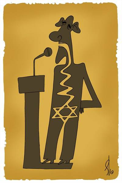 روده راست باراک اوباما/کاریکاتور