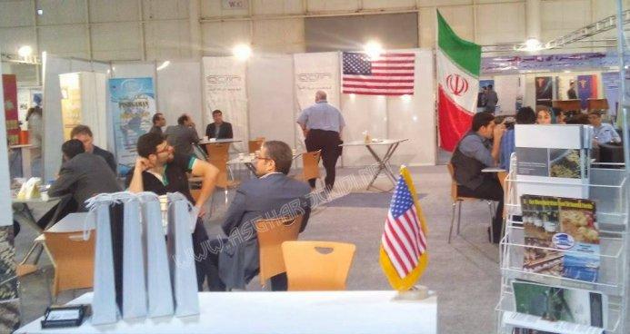 پرچم آمریکا بالاخره در ایران برافراشته شد + عکس