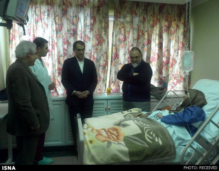 عیادت وزیربهداشت از ابتکار+عکس