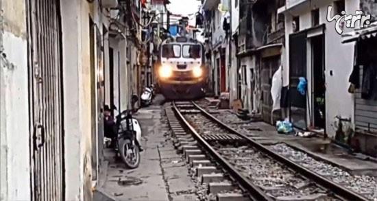 راه آهن در نزدیکی اتاق خواب+عکس