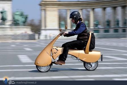 تصاویر| موتورسیکلت چمدانی!