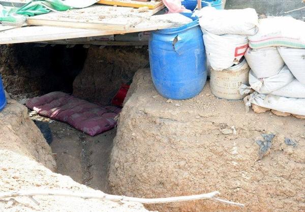 شبکه تونلی در سوریه+تصاویر