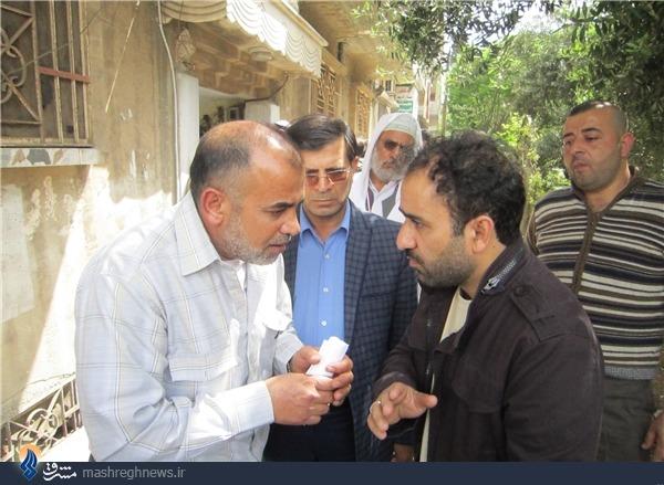 عکس|رضا امیرخانی و ناصر فیض در حمص سوریه
