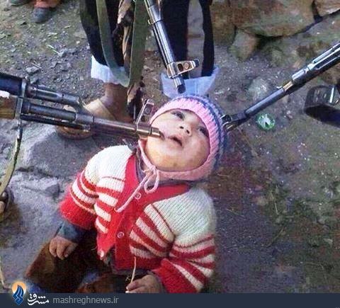 یک عکس جنجالی و سوزناک از تروریست های سوری