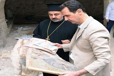 بازدید اسد از شهرتاریخی سوریه+عکس