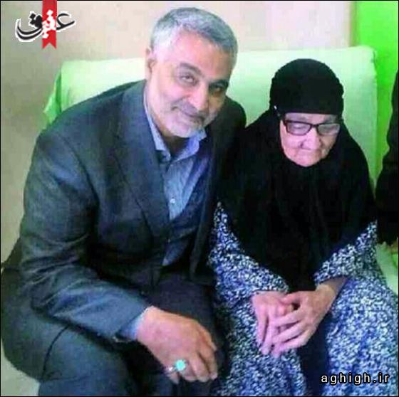 عکس  فرمانده سپاه قدس و مادرش