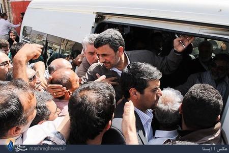 تصاویر|استقبال از احمدی نژاد در راهیان نور