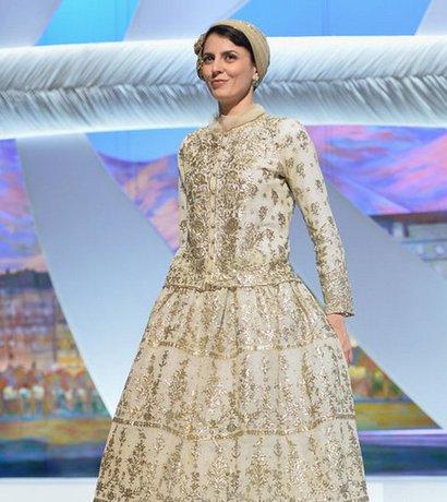 لباس 180ساله لیلا حاتمی در جشنواره کن!