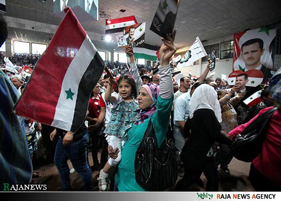 شور انتخاباتی در سوریه+عکس
