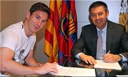 لیونل مسی با بارسلونا قرارداد جدید امضا شد
