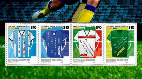 تمبر گروه ایران (F) در جام جهانی ۲۰۱۴ رونمایی شد+عکس