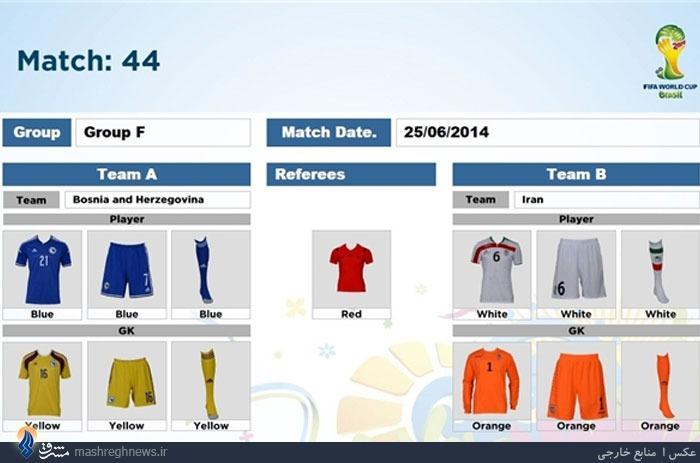 ایران در جام جهانی2014چه رنگی می پوشد؟