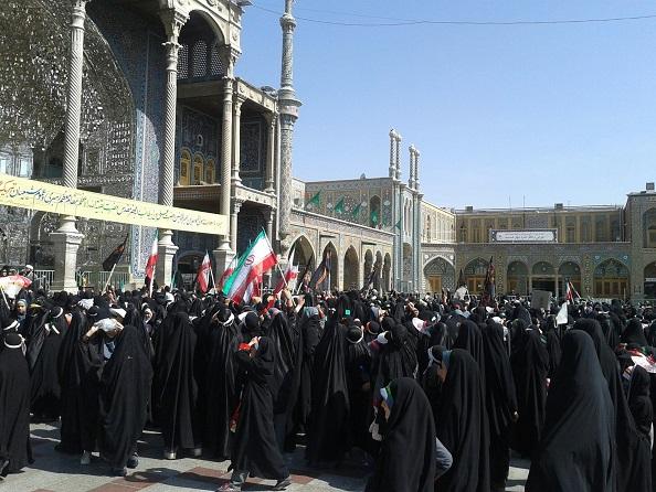 تجمع دختران خوشحجاب در قم + عکس