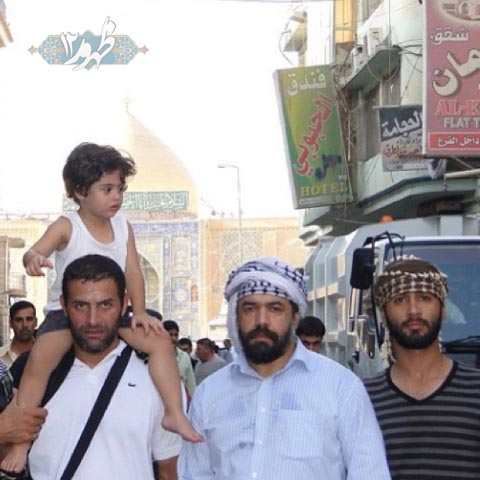 حاج محمود کریمی در نجف   عکس