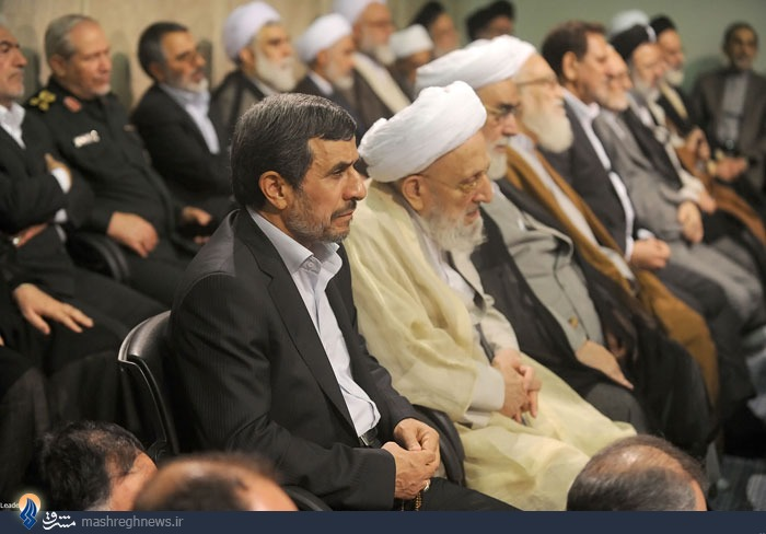 احمدی نژاد همنشین آیت الله مهدوی کنی شد + عکس