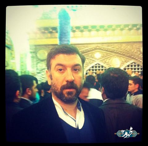 علی انصاریان در حرم امام رضا(ع) | عکس