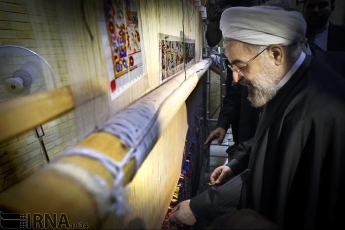 حسن روحانی قالیباف شد | عکس