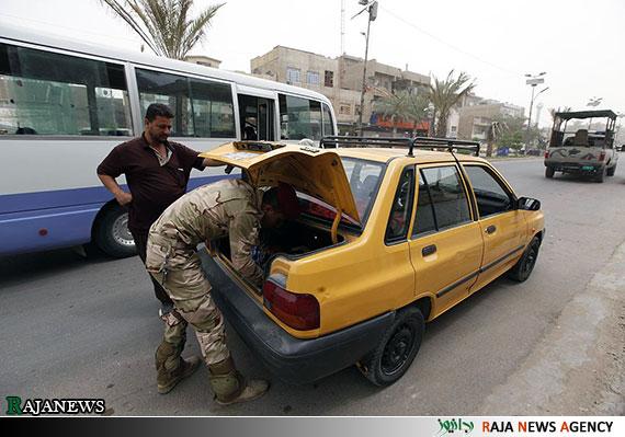 عکس| تجسس پلیس عراق از پراید