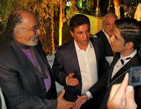 بازیگر معروف در کنار قلعه نویی و دامادش + عکس