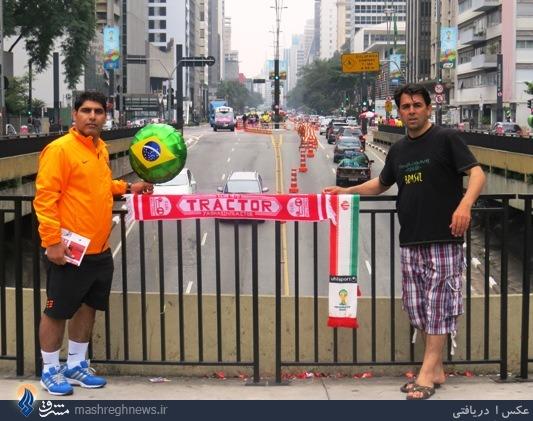 طرفداران تراکتور تبریز در برزیل+عکس