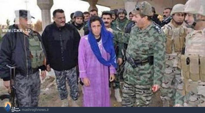 یک داعشی با لباس زنانه دستگیر شد+عکس