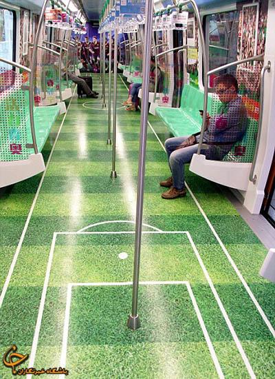 فضای المپیک چین در مترو+تصاویر