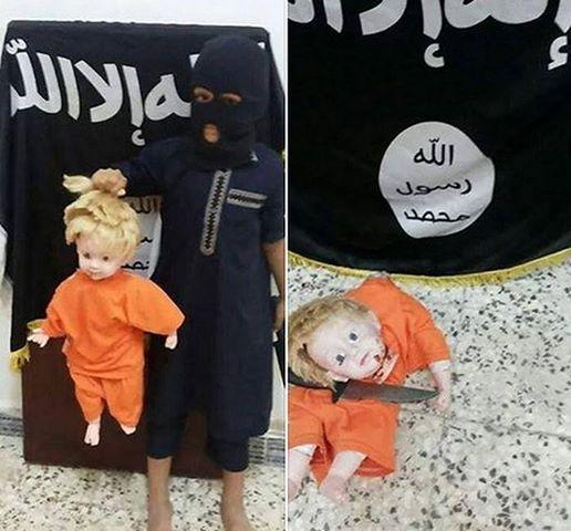 بازی کودک داعشی+عکس