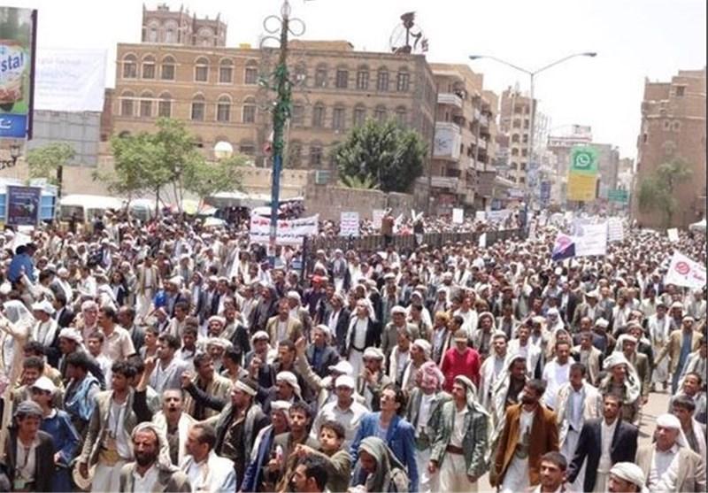 تجمع صدهزار یمنی برای اعتراض  دولت+تصاویر