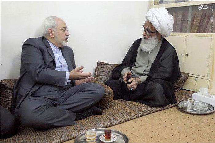 ظریف با آیت الله بشیر در نجف دیدار کرد+عکس