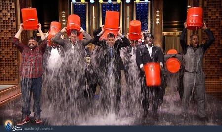 چالش سطل آب یخ !!+تصاویر