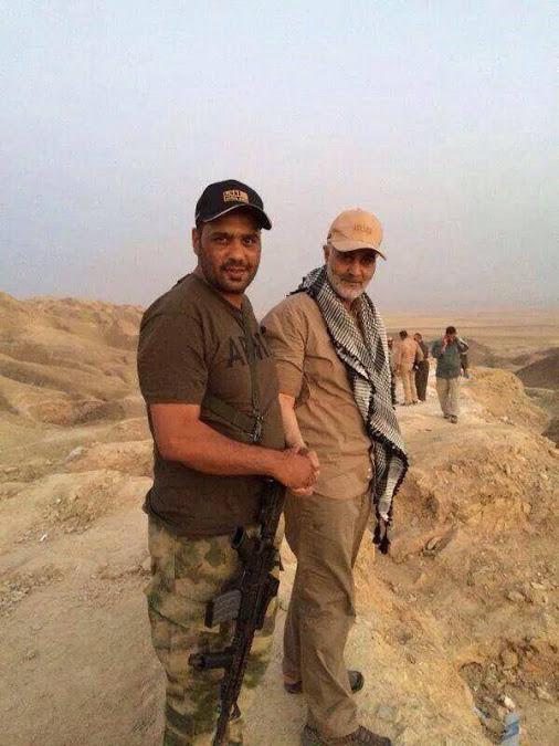 انتشار عکس ادعایی از حضور «سردار قاسم سلیمانی» در خط مقدم نبرد با داعش