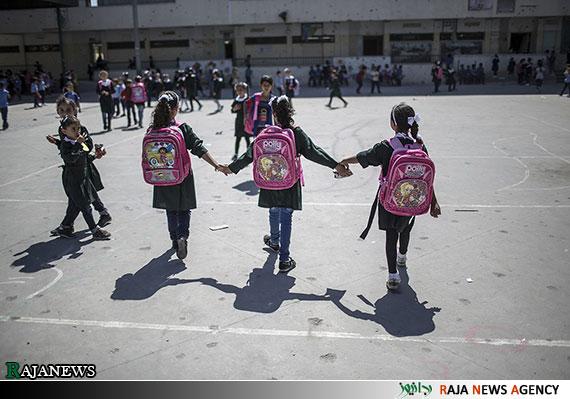 سال تحصیلی غزه و مدارس تخریب شده+تصاویر