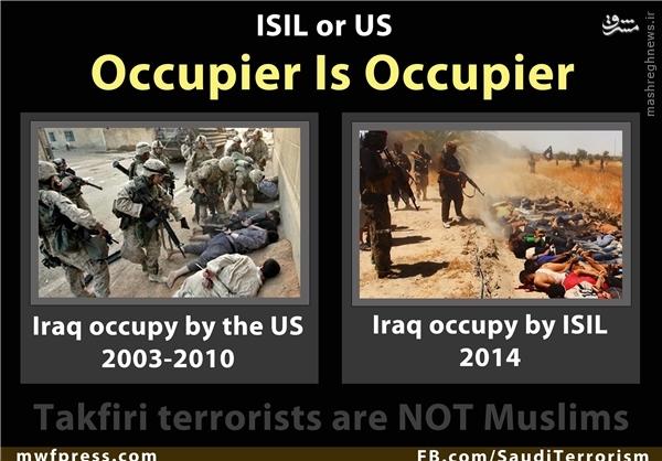 کار مشترک داعش و آمریکا در عراق+عکس